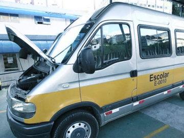 inspeção de micro ônibus